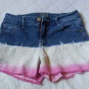justice multi-colored shorts